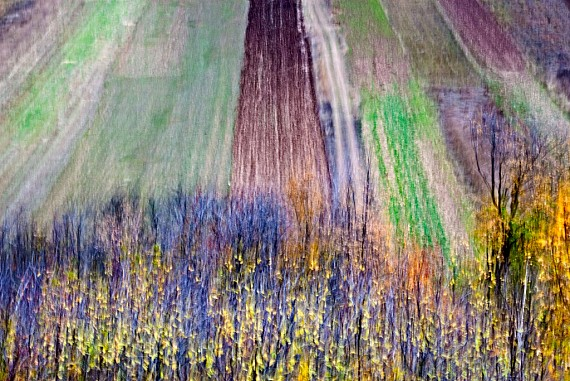 Fields in autumn, S. Stefano di Sessanio